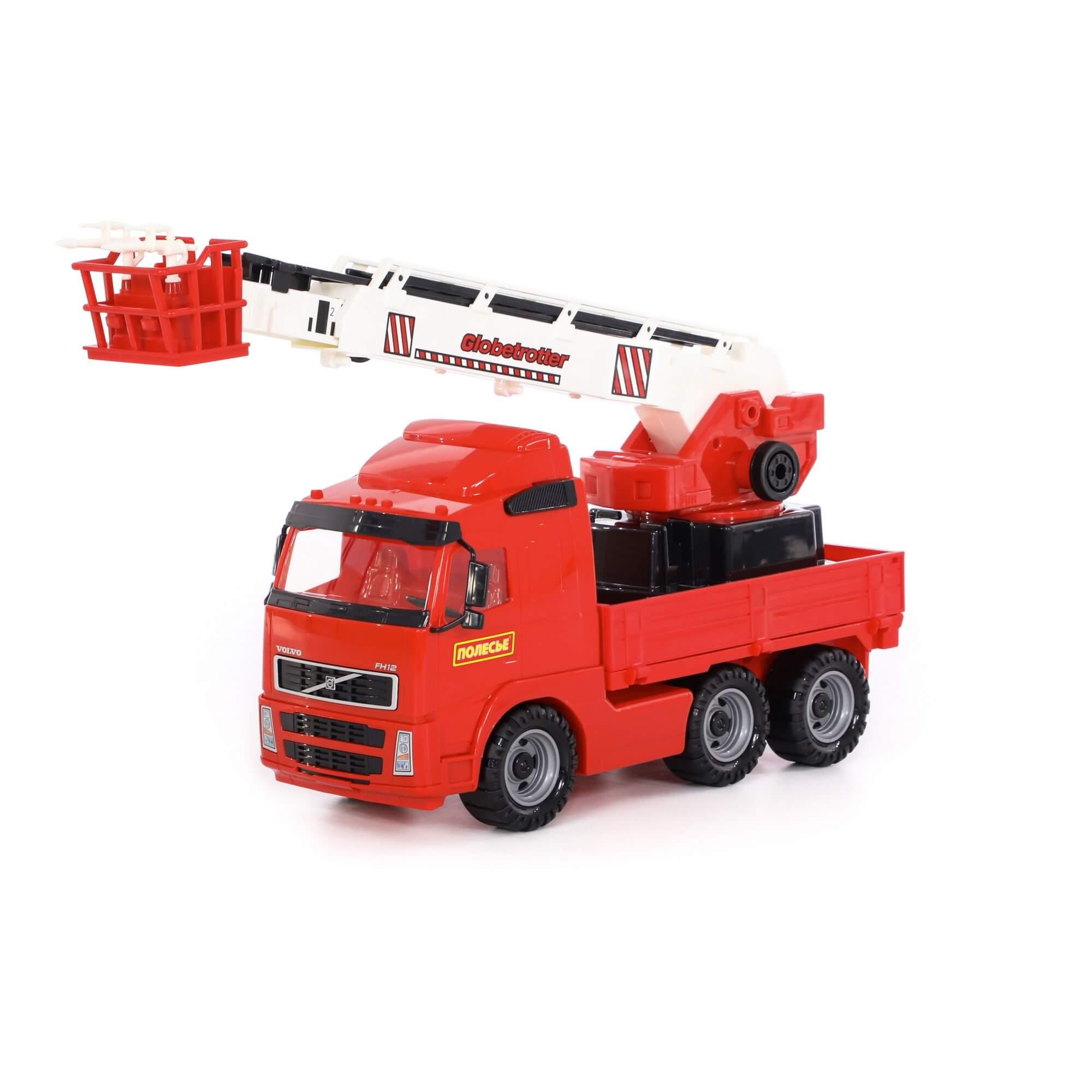 Автомобиль пожарный, Полесье, Volvo, в коробке