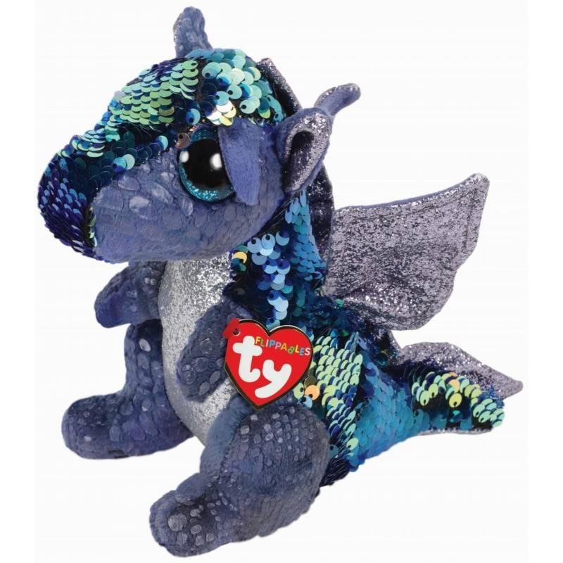 Мягкая игрушка, TY, Кейт дракон, с пайетками, 25см