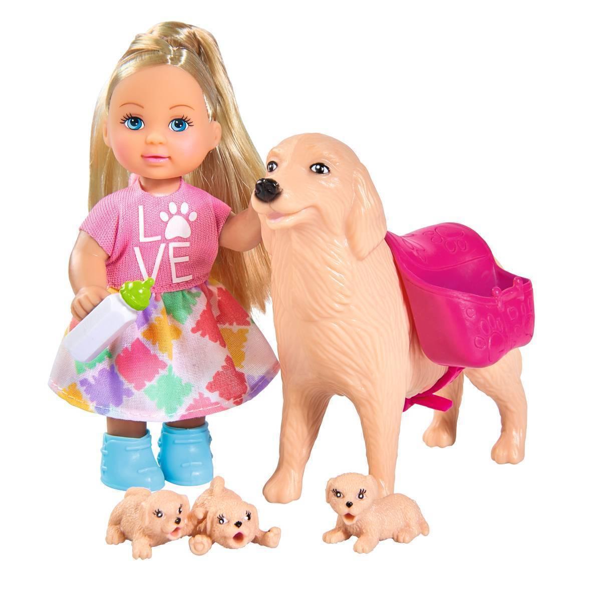 Кукла, Simba, Еви, собачка и щенки