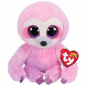 Мягкая игрушка, TY, Дрими ленивец, розовый, 25см