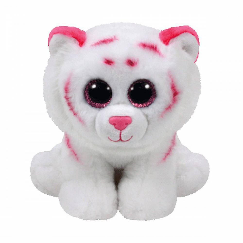 Мягкая игрушка, TY, Табор тигр розово-белый, 25см