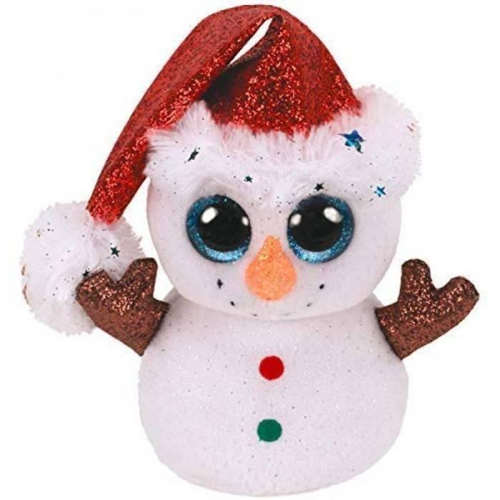 Мягкая игрушка, TY, Флурри снеговик, 15см
