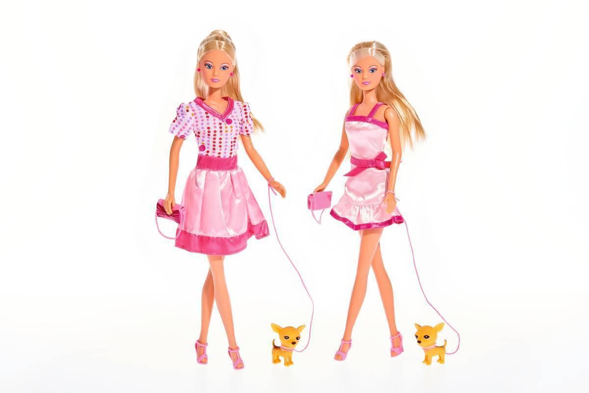 Кукла, Simba, Штеффи с собачкой и аксессуарами