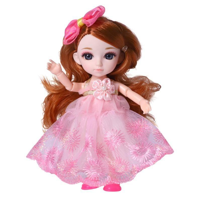 Кукла, Funky Toys, Малышка Лили рыженькая с расческой, 16см