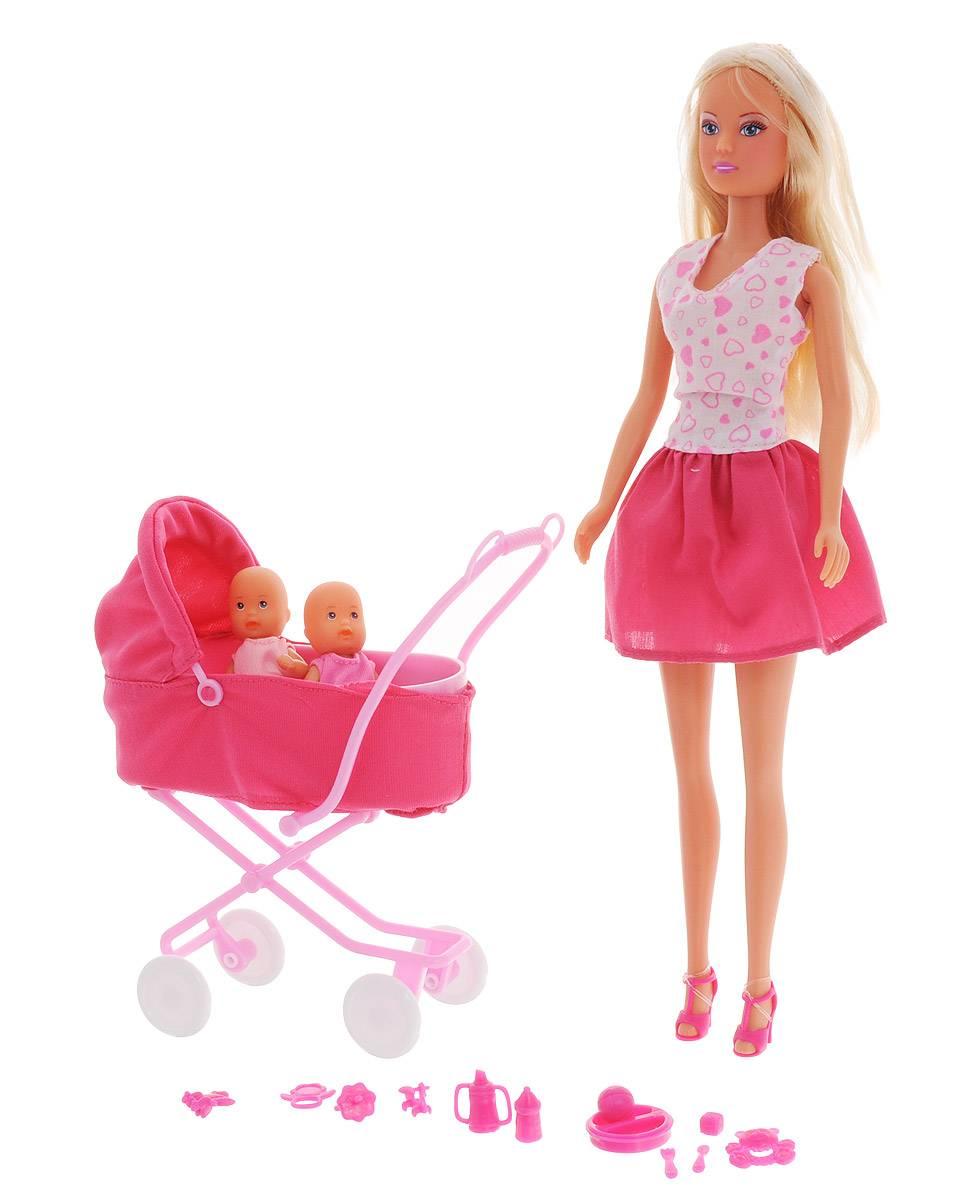 Кукла, Simba, Штеффи с коляской, 2 вида, 5738060