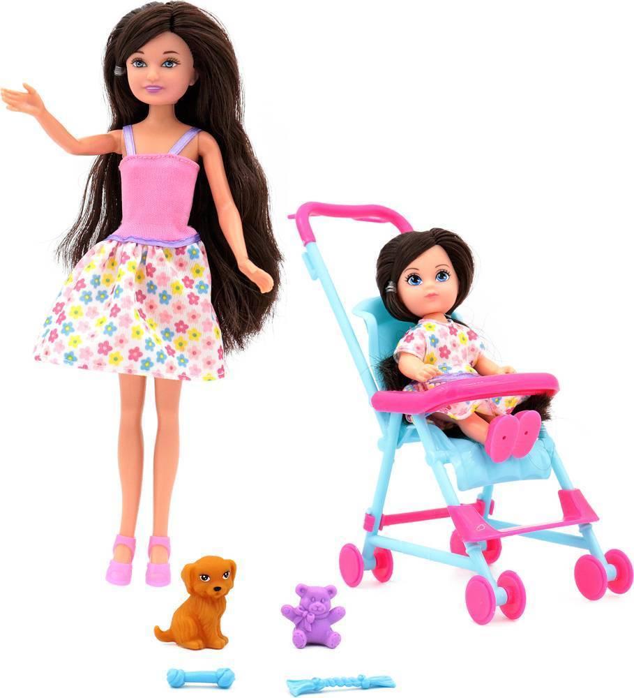 Куклы, Funky toys, Мила и Вики, коляска, собачка