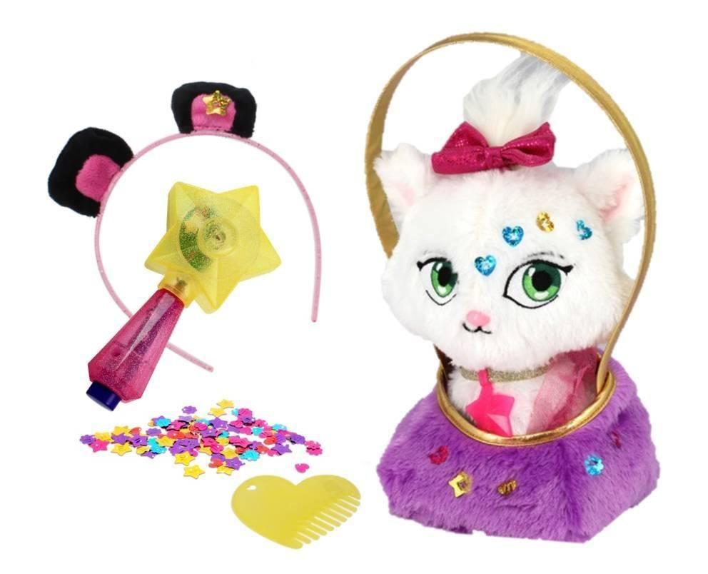 Плюшевая игрушка, Shimmer Stars, Котенок Джелли Бин с сумочкой, 20см