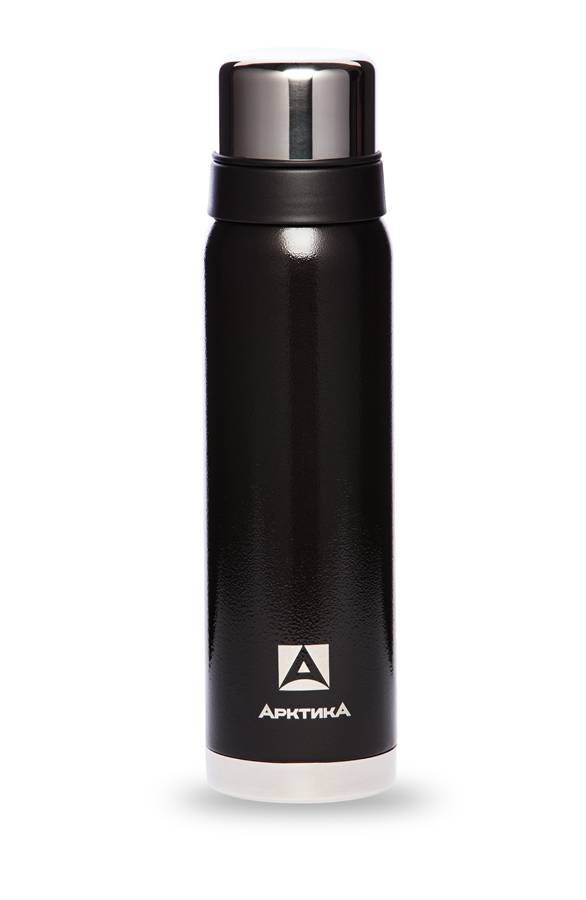 Термос для напитков, Арктика, бытовой, вакуумный, 900мл, чёрный, 106-900