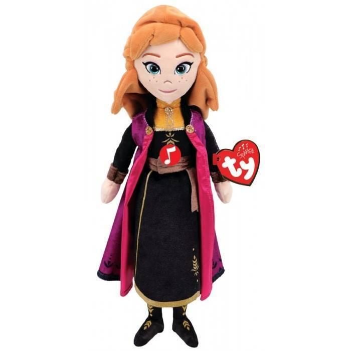 Мягкая игрушка со звуком, TY, Анна принцесса & quot;Холодное Сердце 2& quot;, 30см