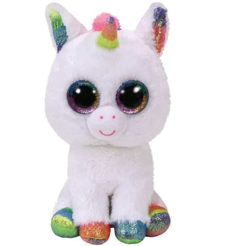 Мягкая игрушка, TY, Пикси единорог, белый, 15см