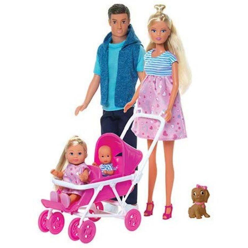 Кукла Штеффи, Simba, & quot;Большая семья& quot;, набор с сюрпризом