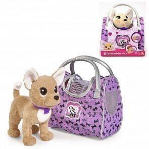 Плюшевая собачка, Simba, Chi-Chi love, Путешественница с сумкой-переноской, 20см