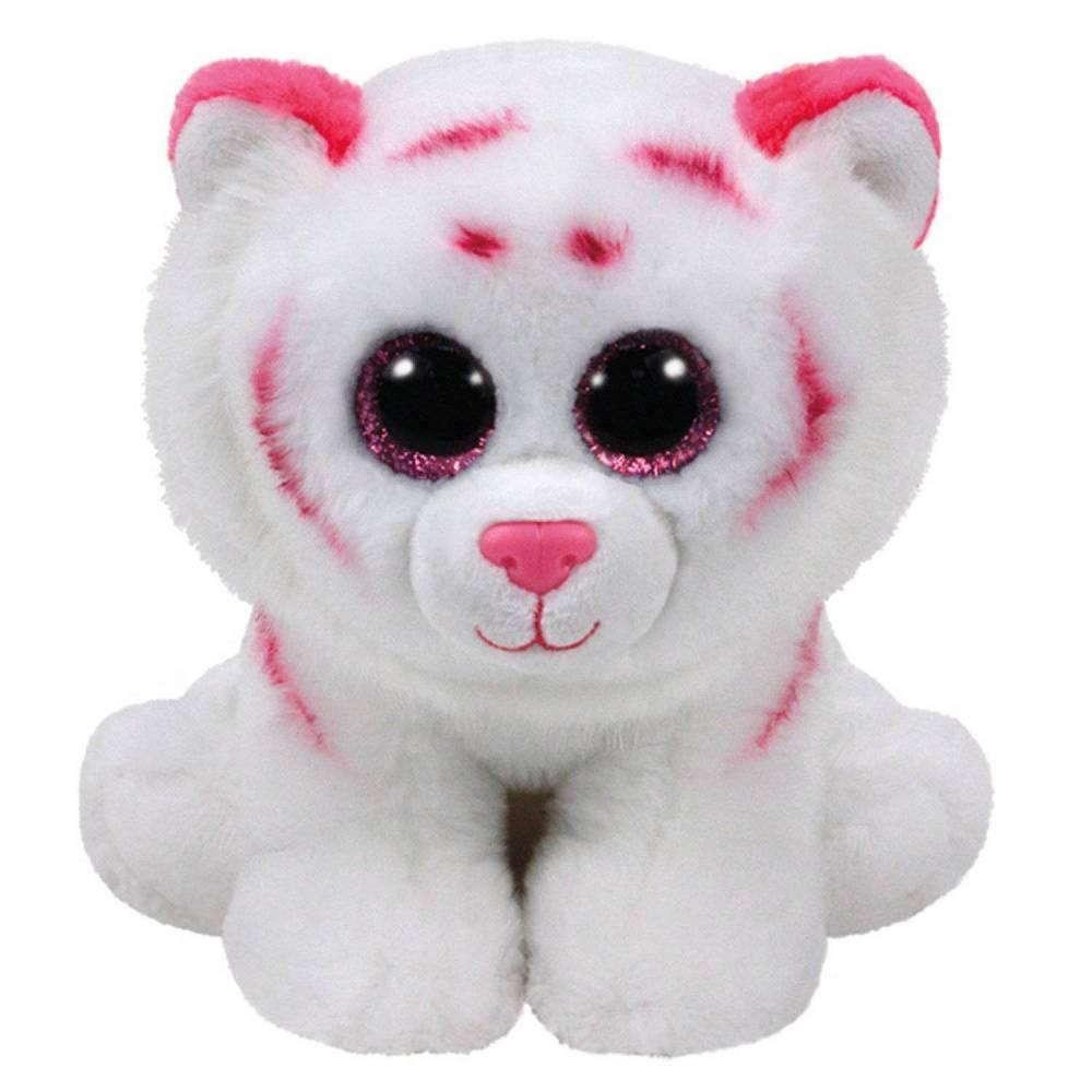 Мягкая игрушка, TY, Табор тигр, розово-белый, 15см