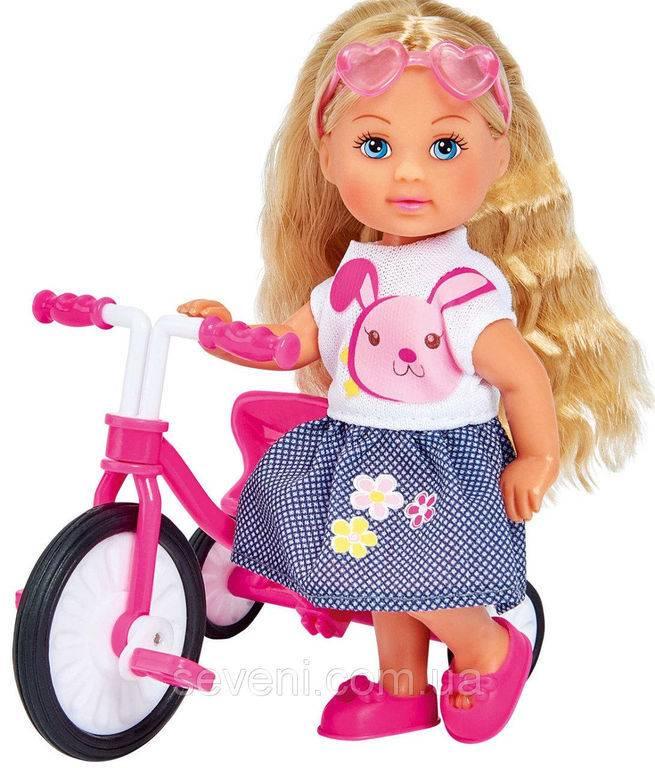 Кукла, Simba, Еви, трехколесный велосипед
