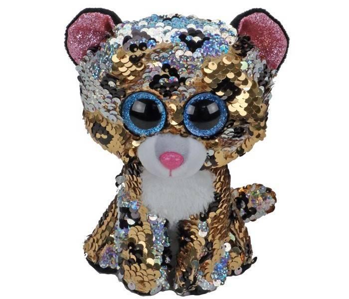 Мягкая игрушка, TY, Стерлинг леопард, с пайетками, 15см