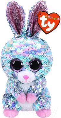 Мягкая игрушка, TY, Рейндроп кролик, с пайетками, 15см
