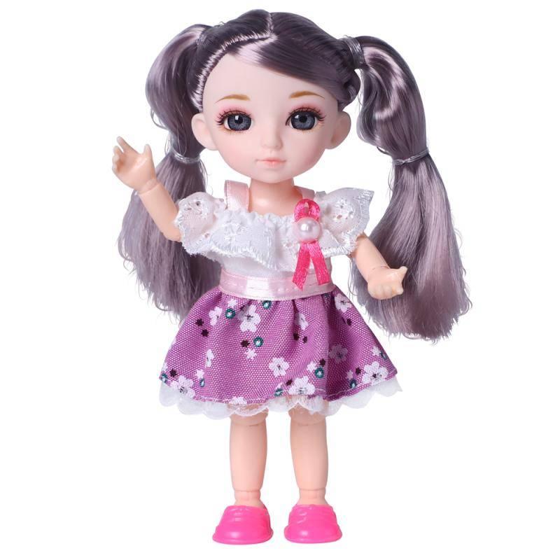 Кукла, Funky Toys, Малышка Лили шатенка с собачкой, 16см