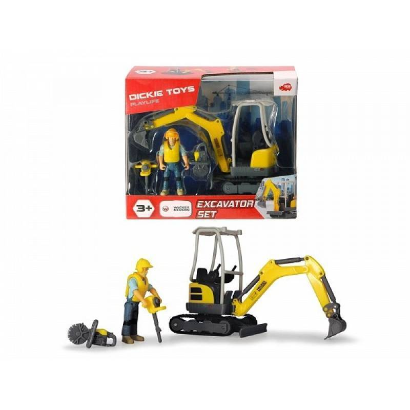Набор дорожного строителя малый, Dicki Toys, Playlife, 6 предметов, 19,5см