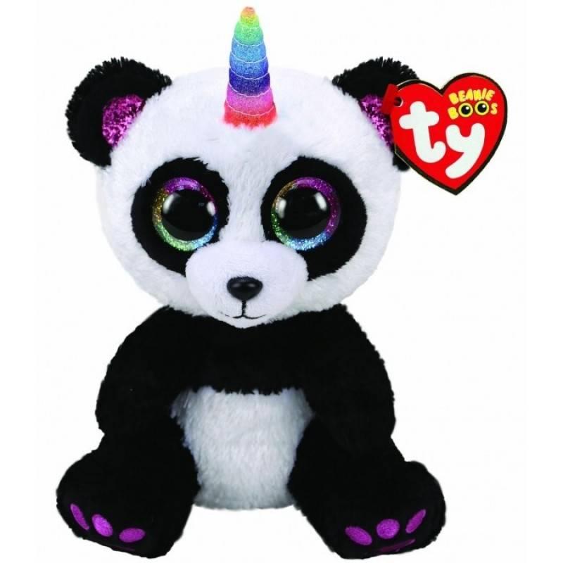 Мягкая игрушка, TY, Панда с рогом, 25см