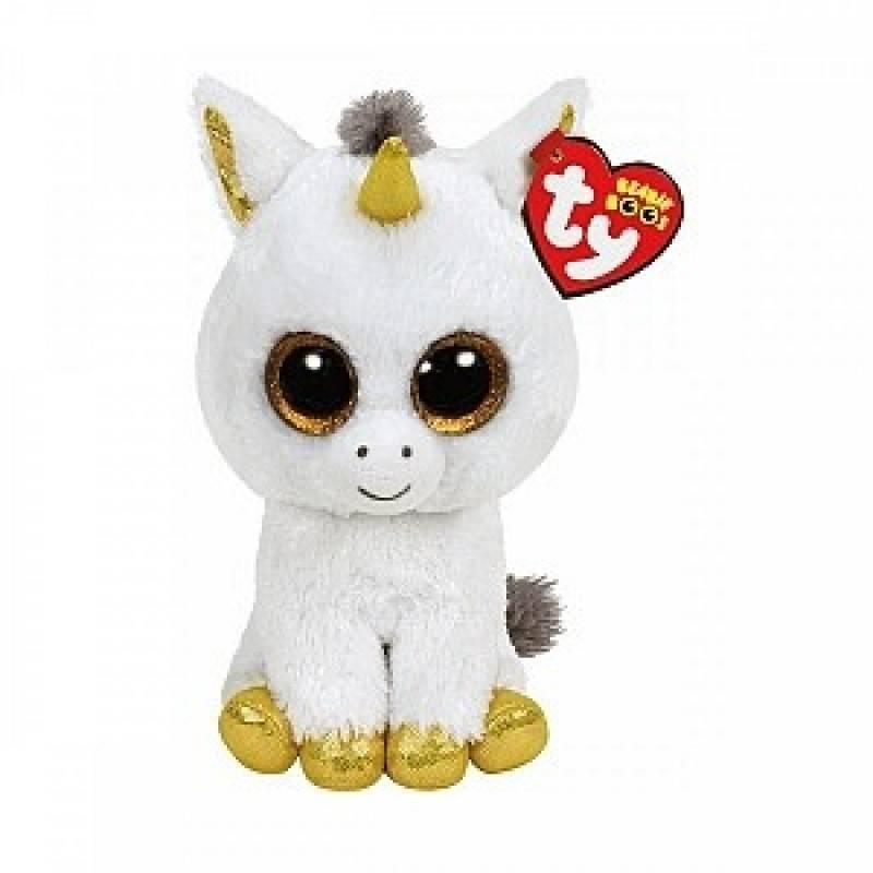 Мягкая игрушка, TY, Пегас единорог, белый, 25см