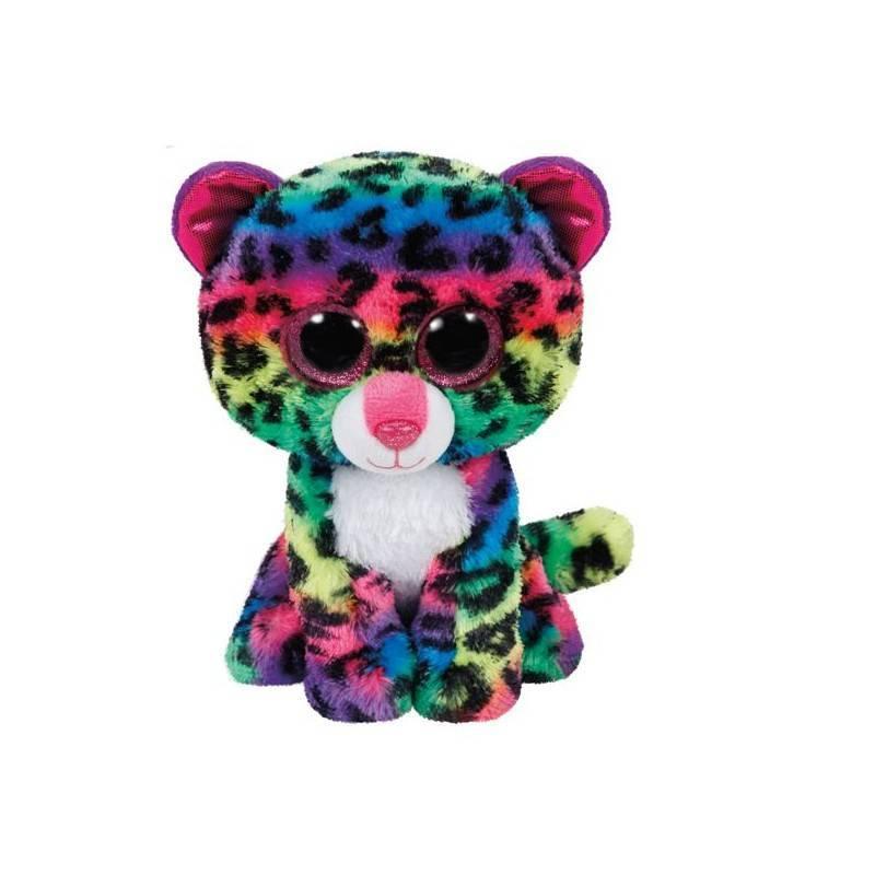 Мягкая игрушка, TY, Дотти, леопард многоцветный, 15см