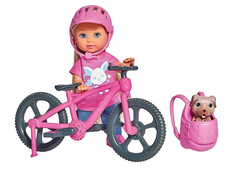 Кукла, Simba, Еви на велопрогулке с собачкой