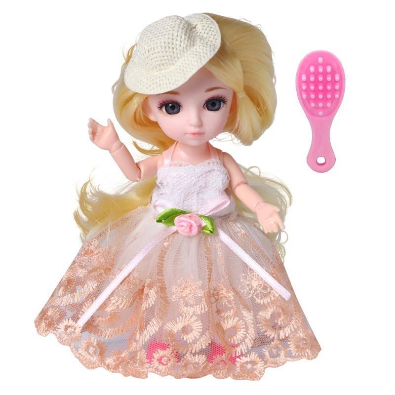 Кукла, Funky Toys, Малышка Лили блондинка с расческой, 16см