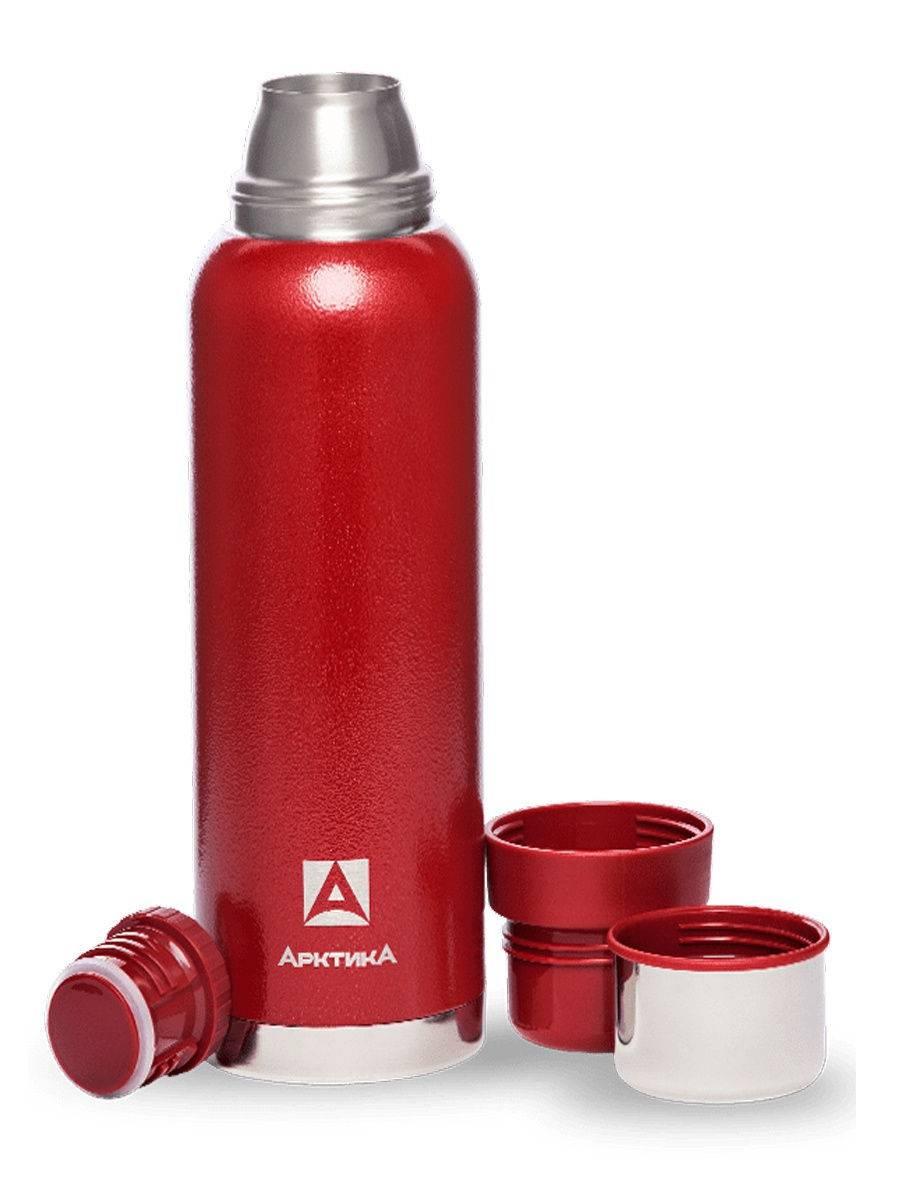 Термос бытовой, Арктика, вакуумный (для напитков), 1200мл, красный